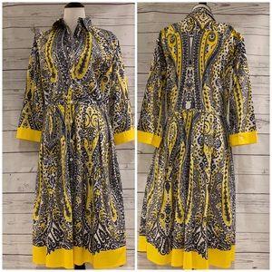 Samantha Sung 3/4 Sleeve Gray and Yellow Audrey 10